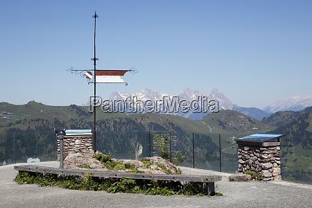 observation deck against clear sky kitzbuehel