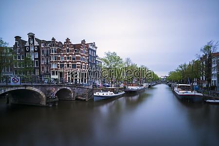 netherlands amsterdam arch bridge over city