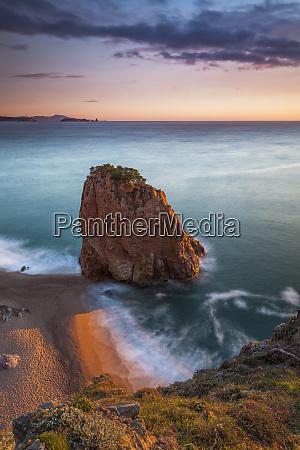 spain girona begur coastal stack rock