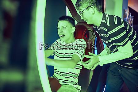 teenage friends playing and having fun