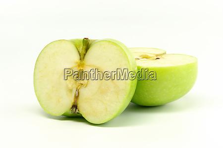 half green apples