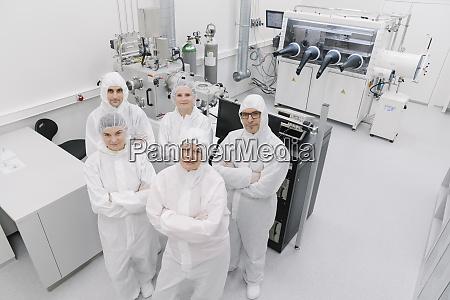 portrait of confident team of scientists