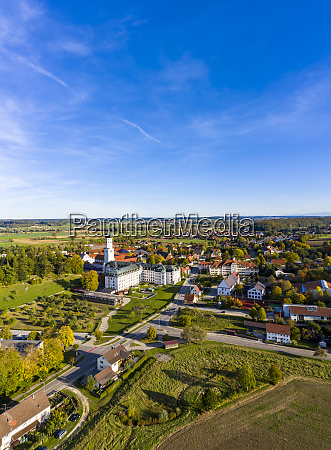 germany bavaria ursberg aerial view of