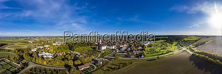 germany bavaria ursberg aerial view of