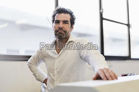 portrait of a confident businessman at