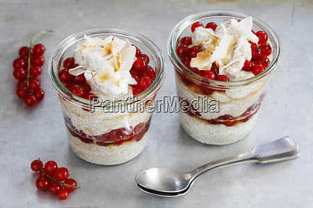 jars of gluten free amaranth mousse