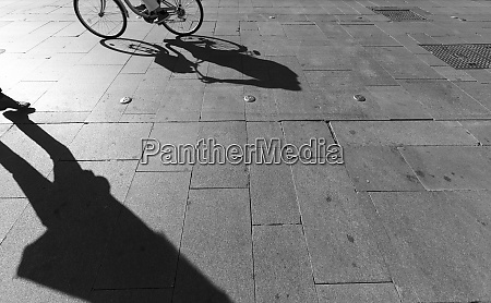 shadows on a pavement seville spain