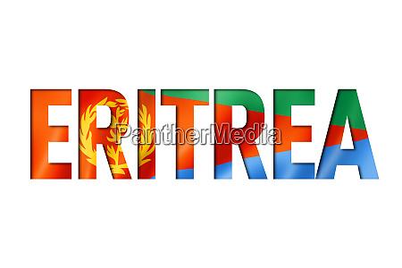 eritrean flag text font