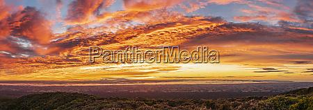 new zealand dramatic sunrise over tongariro