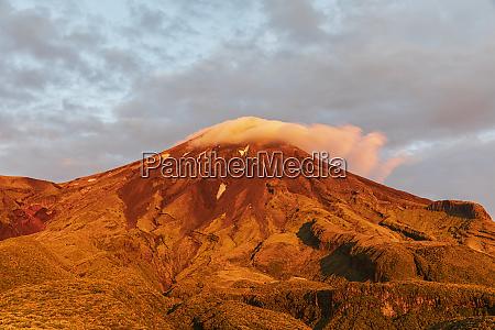 new zealand mount taranaki volcano at