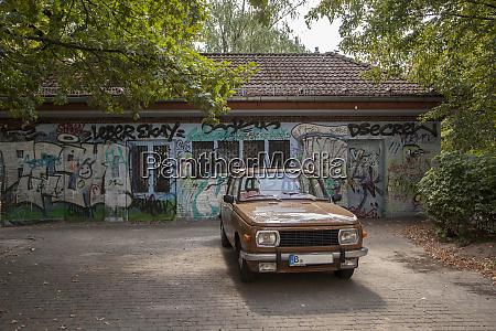 germany berlin brown vintage car parked