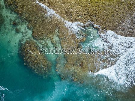 indonesia sumbawa aerial view of reef