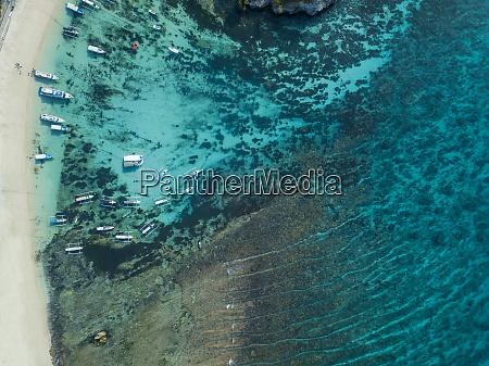 indonesia bali aerial view of lembongan