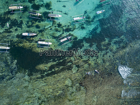indonesia bali aerial view of boats