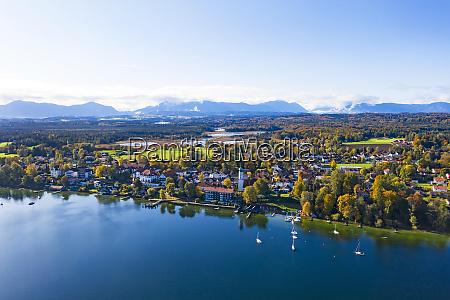 germany bavaria seeshaupt aerial view of