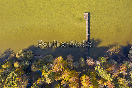 germany bavaria aerial view of jetty