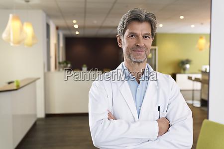 portrait of confident doctor in his