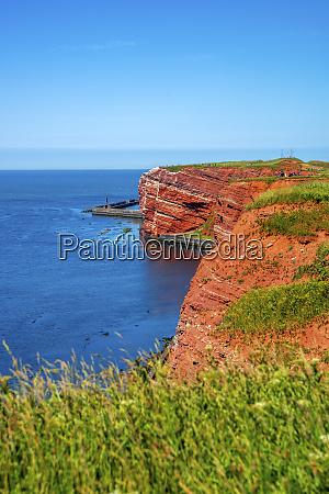 germany schleswig holstein helgoland coastal cliffs