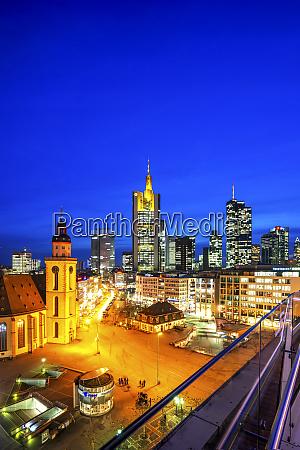 germany hesse frankfurt elevated view of