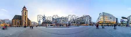 germany hesse frankfurt panoramic view of