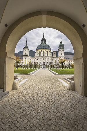 germany bavaria garmisch partenkirchen courtyard archway