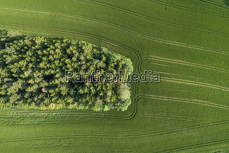 germany bavaria aerial view of small