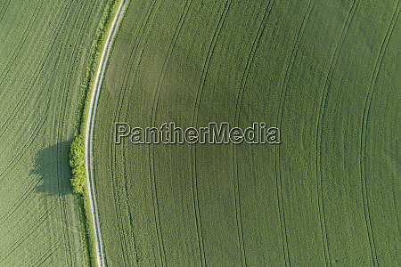 germany bavaria aerial view of dirt