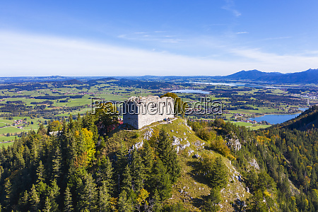 germany bavaria pfronten aerial view of