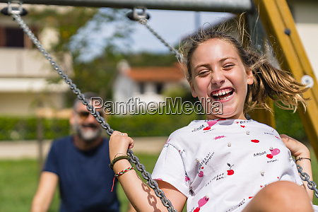 portrait of happy girl on a