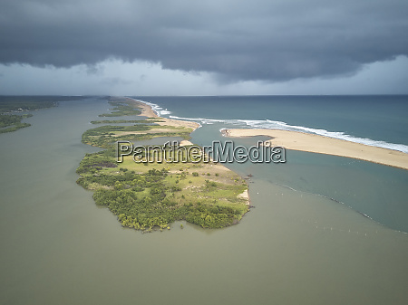 benin grand popo aerial view of