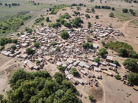 burkina faso niansongoni aerial view of