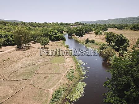 burkina faso aerial view of landscape