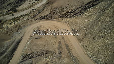 aerial view of a jeep on