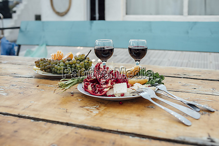 georgia tbilisi fresh fruit and glasses