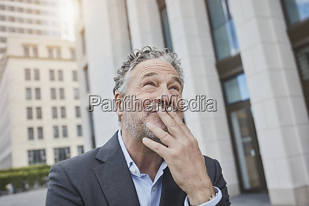 portrait of happy businessman in the