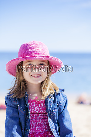 portrait of fashionable little girl wearing