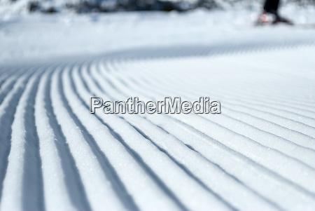 prepared ski slope
