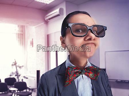 funny thoughtful nerd girl