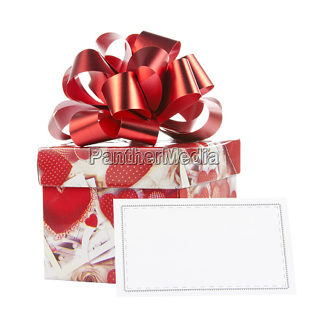 gift box with red bow and