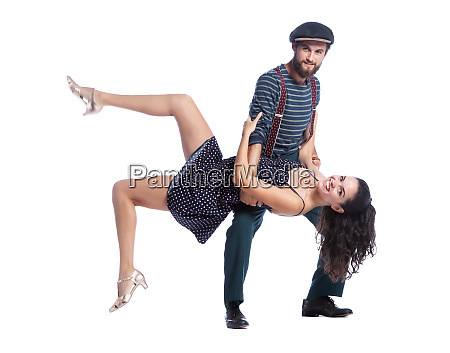 the swing dancing
