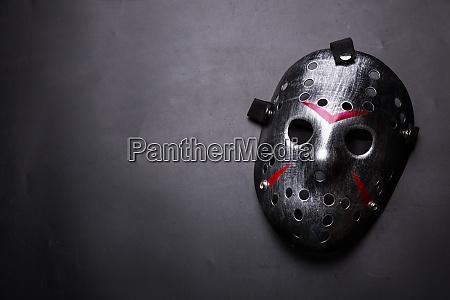 hockey mask of serial killer isolated