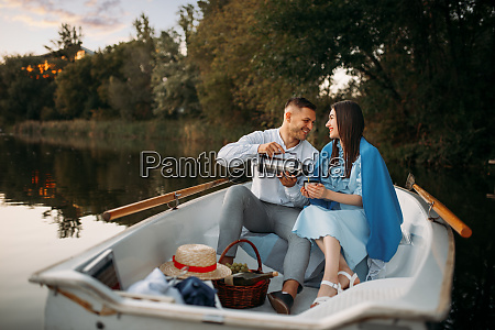 love couple with thermos in a