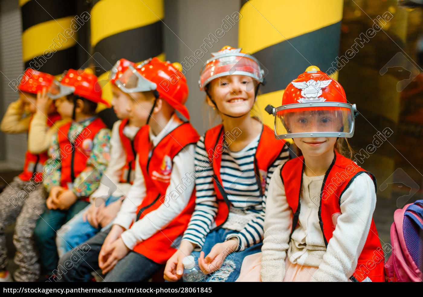 children, in, helmets, and, uniform, playing - 28061845