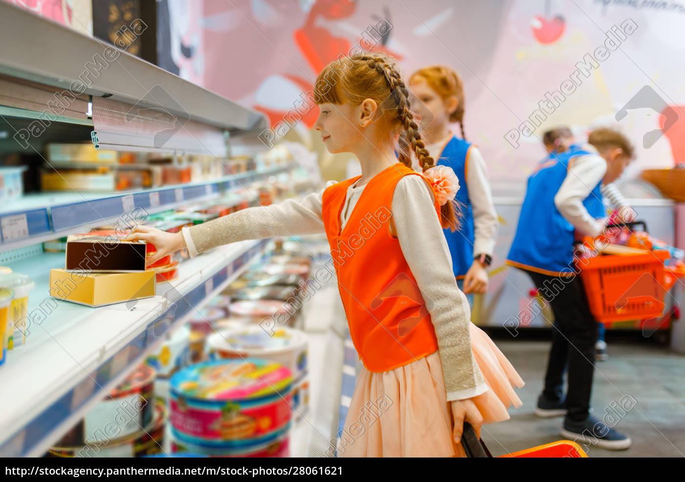 children, in, uniform, playing, saleswomen, , playroom - 28061621