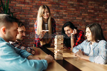 friends, plays, table, game, , selective, focus - 28061596