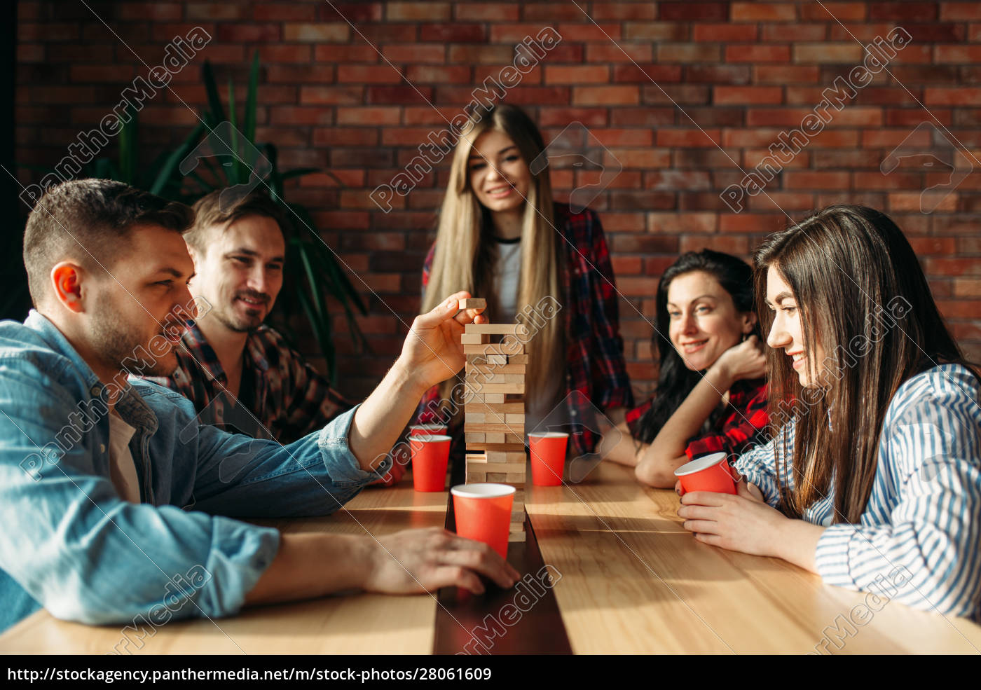 friends, plays, table, game, , selective, focus - 28061609