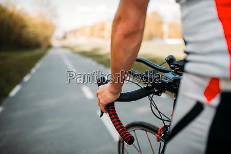male, cyclist, in, sportswear, cycling, on - 28061770