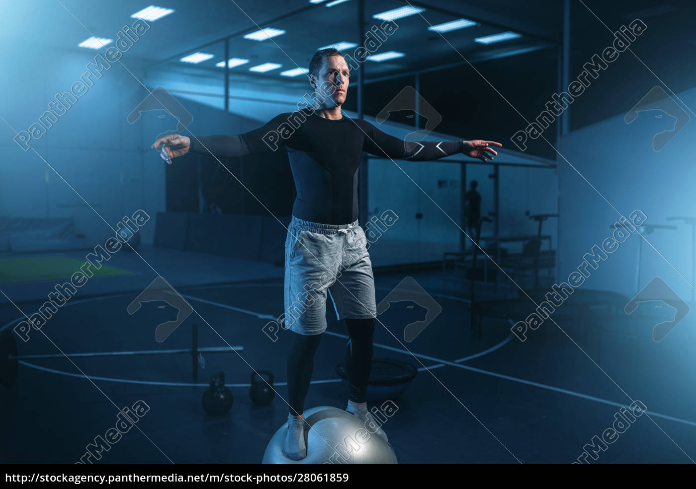man, on, training, , balance, workout, with - 28061859