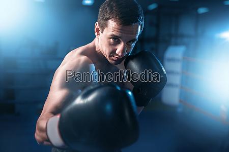 portrait, of, muscular, boxer, in, black - 28061511