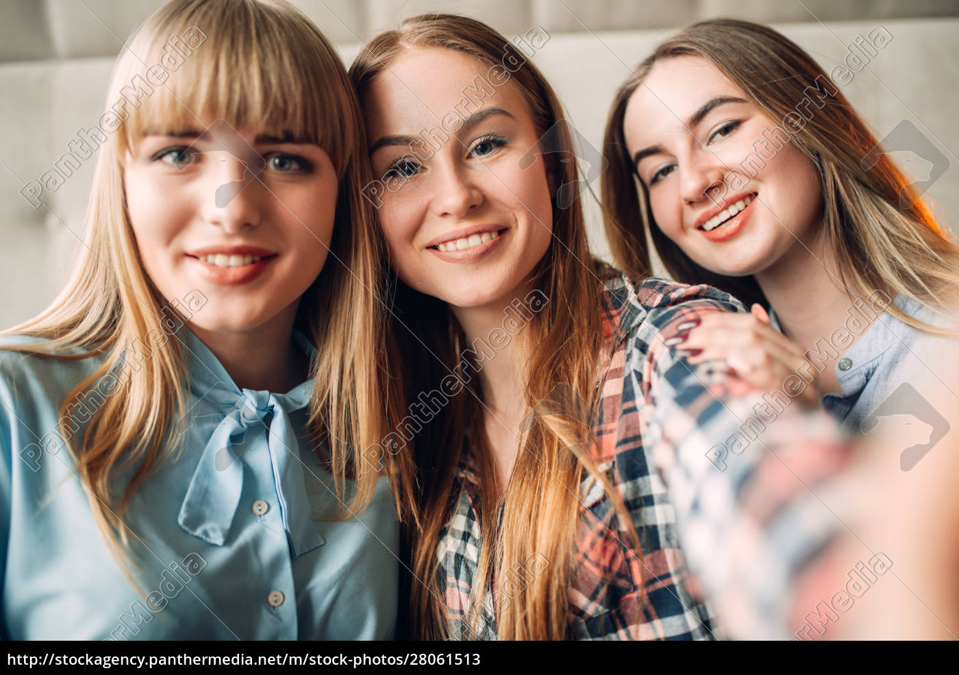 portrait, of, three, young, smiling, girlfriends - 28061513